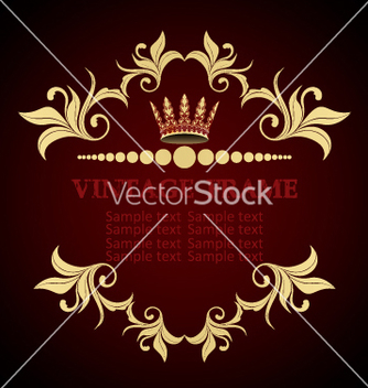 Free vintage frame vector - Free vector #269153