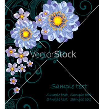 Free abstract flowers vector - Kostenloses vector #269203