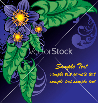 Free floral document vector - Free vector #269423