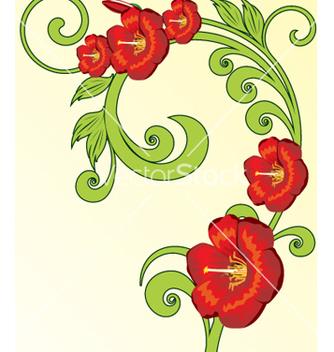 Free vintage floral vector - Kostenloses vector #269493