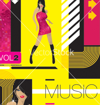 Free modern music vector - Free vector #269513