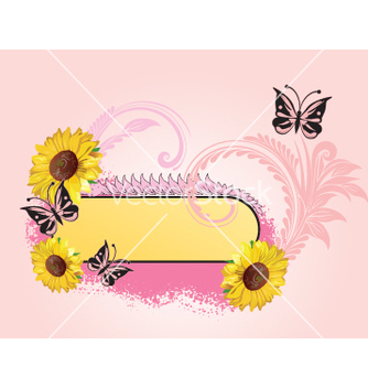 Free floral label vector - Free vector #269553