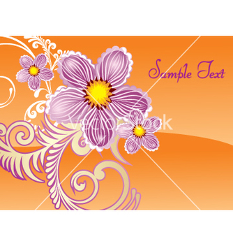 Free floral document vector - бесплатный vector #269783