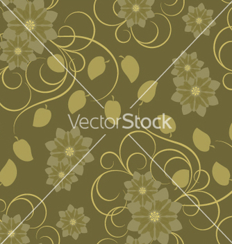 Free seamless pattern with brown flowers vector - Free vector #270053