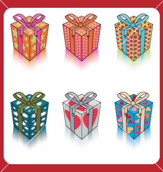 Free gift boxes vector - Free vector #270263