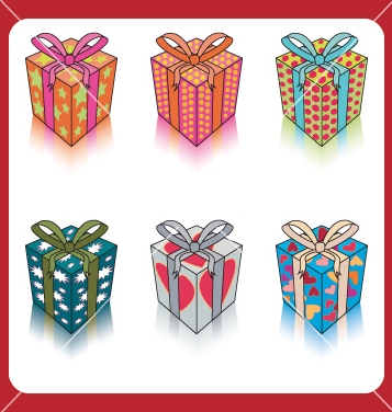Free gift boxes vector - Kostenloses vector #270263