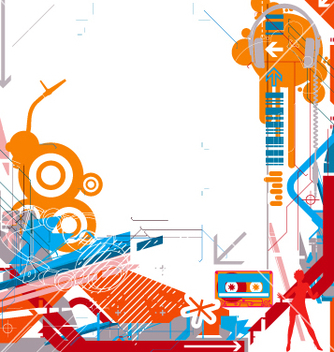 Free abstract dj music background vector - Kostenloses vector #270303