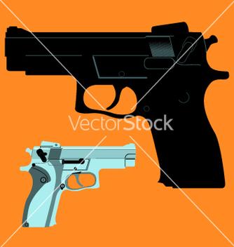 Free hand gun vector - Free vector #270373