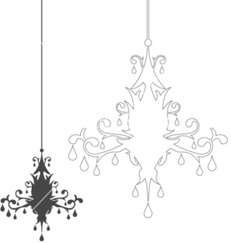 Free simple chandelier vector - vector #270413 gratis