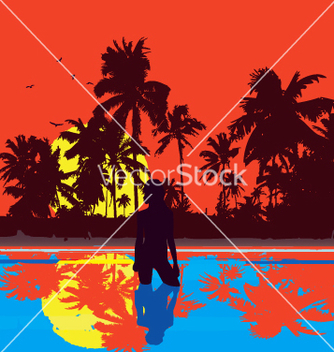 Free tropical nights vector - Free vector #270783