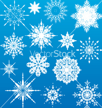 Free snowflakes vector - Free vector #270843