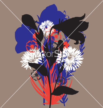 Free wild flowers vector - Free vector #270963