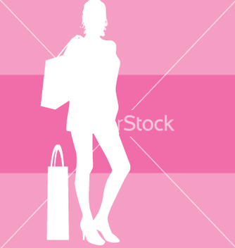 Free shopping silhouette vector - Free vector #271093