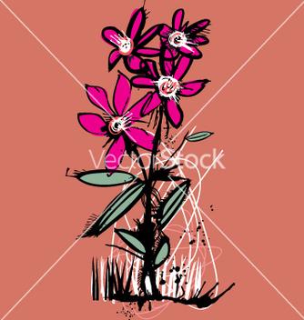 Free ink flower vector - Kostenloses vector #271253