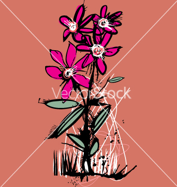 Free ink flower vector - vector gratuit #271253