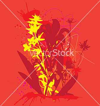 Free ink and flowers vector - Free vector #271273