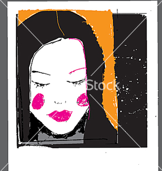 Free girl face sketch vector - Free vector #271333