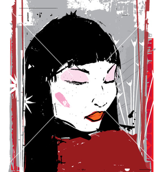 Free china girl ink vector - Free vector #271483
