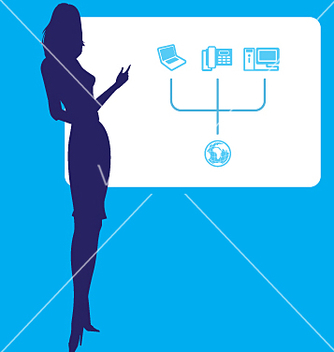 Free business lady points at graph vector - Free vector #271513