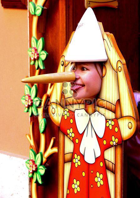 Masque de Pinocchio, drôle - image gratuit #271633