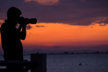 Silhouettes at sunset - Free image #271893