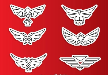 Symmetric Hawk Outline Logo Vectors - Free vector #272413