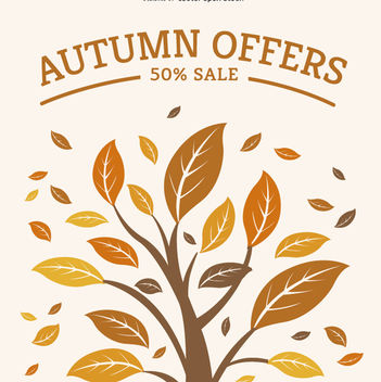 Autumn sale graphic - Free vector #272493