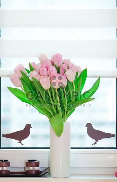 Bouquet of pink tulips - Free image #272583