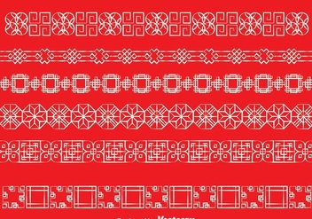 Asian White Line Border - vector gratuit #272693