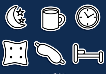 Sleep Outline Icons - vector #272833 gratis