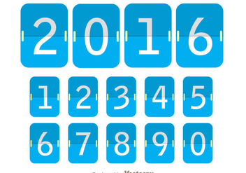 Blue Flipboard Number Counter - Free vector #272843