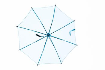 Blue umbrella hanging - image #273073 gratis