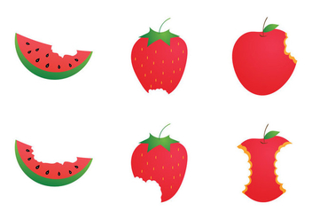 Free Bite Mark Vector Illustration - Free vector #273223