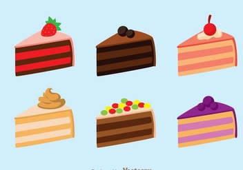 Cake Slice Isolated - Free vector #273303