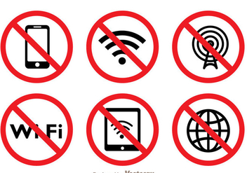 Blocked Wifi Symbol - Free vector #273413