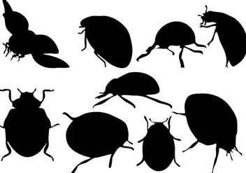 Free Ladybug Silhouette Vector - Free vector #273423
