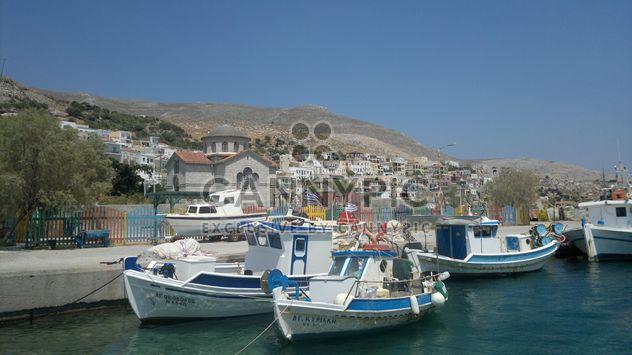 Fischerboote im Hafen von Kalymnos - Kostenloses image #273583