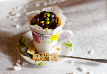 Decorated cupcake in a cup - бесплатный image #273883