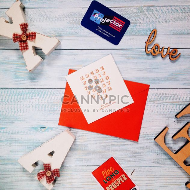 Cards and wooden letters - Free image #273913