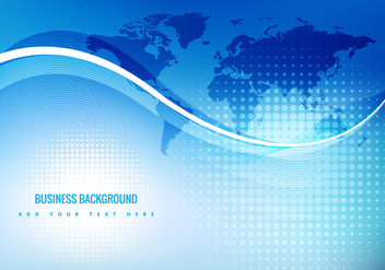 Blue business background - vector #274063 gratis