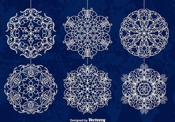 White snowflakes - Free vector #274123