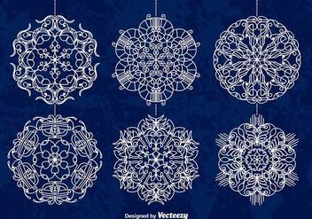White snowflakes - бесплатный vector #274123