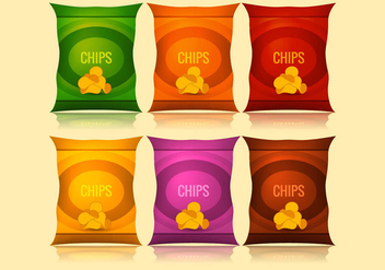 Vector bag of chips - Free vector #274203