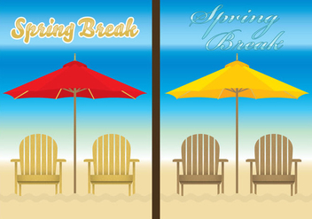 Chair Beach Templates - Free vector #274353