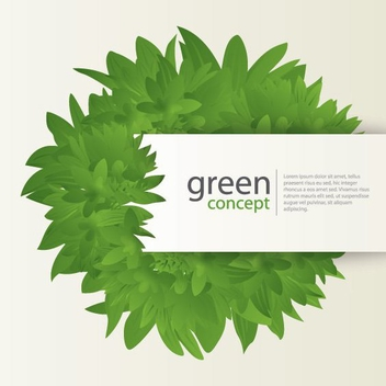 Green Concept Card with Leaves - vector gratuit #274473