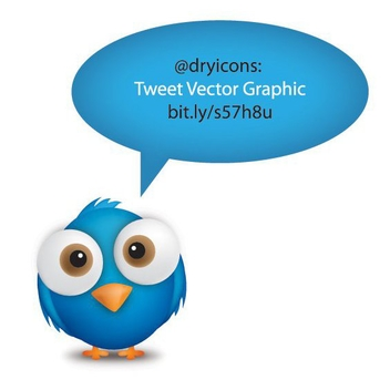 Cute Tweet Bubble with Bird - Free vector #274503