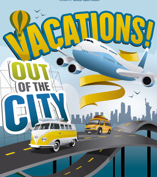 Vacations Out of the City - Free vector #274533