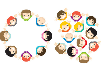 Vector People From Above - vector gratuit #274623