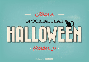 Typographic Retro Halloween Illustration - Free vector #274653