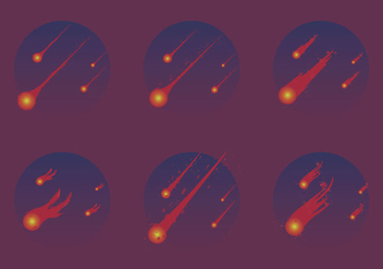 Free Meteor Shower Vector Illustration - Kostenloses vector #274683